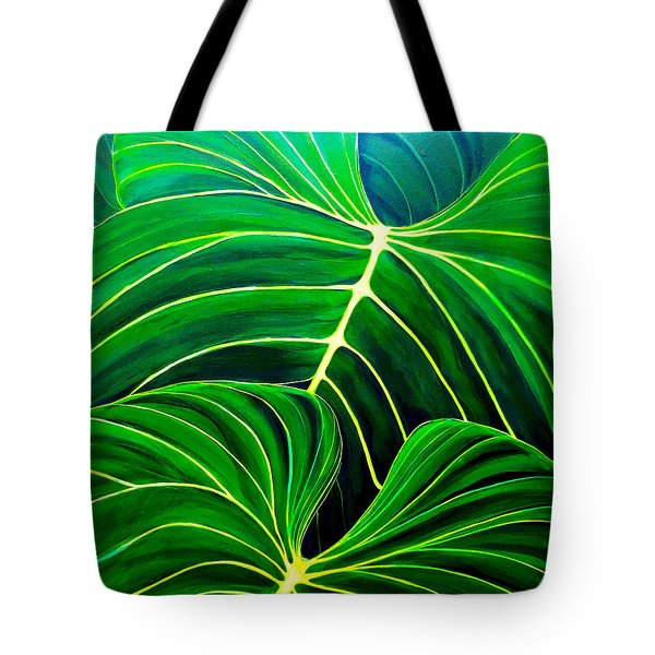 Tote Bag featuring the painting Lovely Greens by Debbie Chamberlin