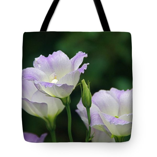 Tote Bag featuring the photograph Lovely Lisianthus by Byron Varvarigos