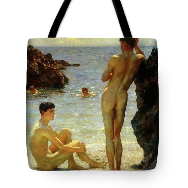 Lovers Of The Sun Tote Bag