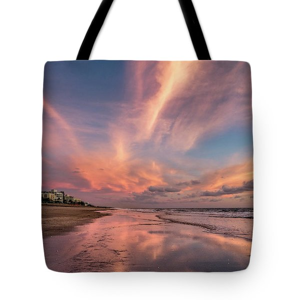 Tote Bag featuring the photograph Low Tide Mirror by Debra and Dave Vanderlaan