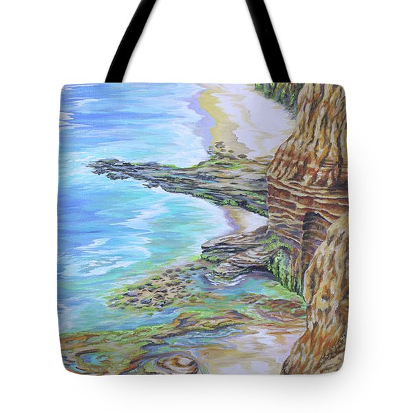 Low Tide Sunset Cliffs Tote Bag