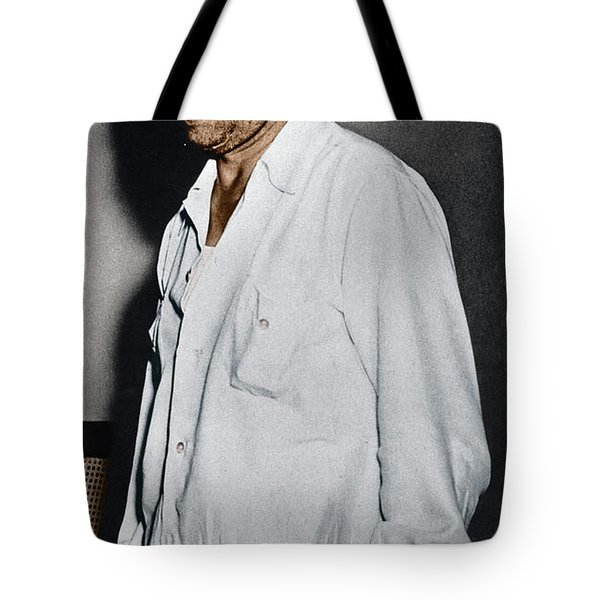 Tote Bag featuring the photograph Lucky Luciano by Granger