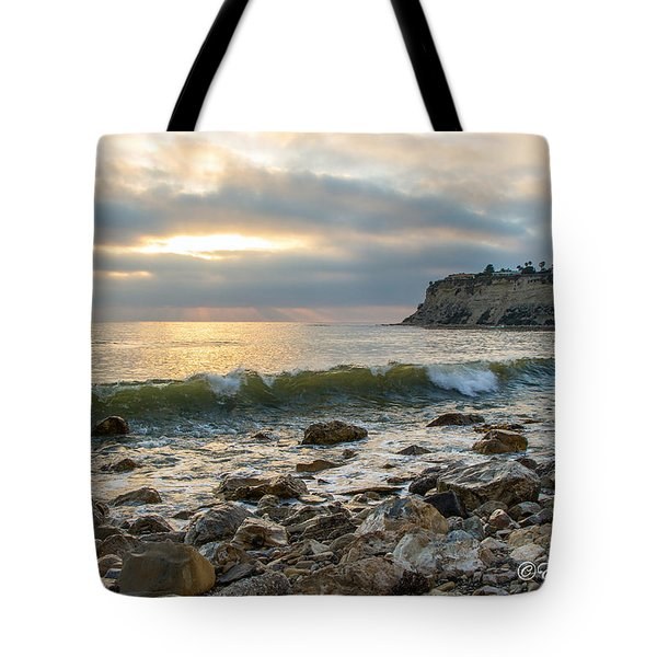Lunada Bay Tote Bag by Ed Clark