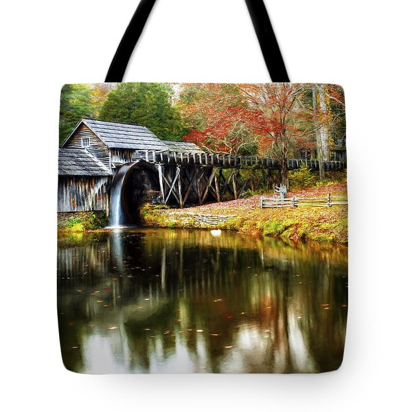 Mabry Mill Autumn Tote Bag
