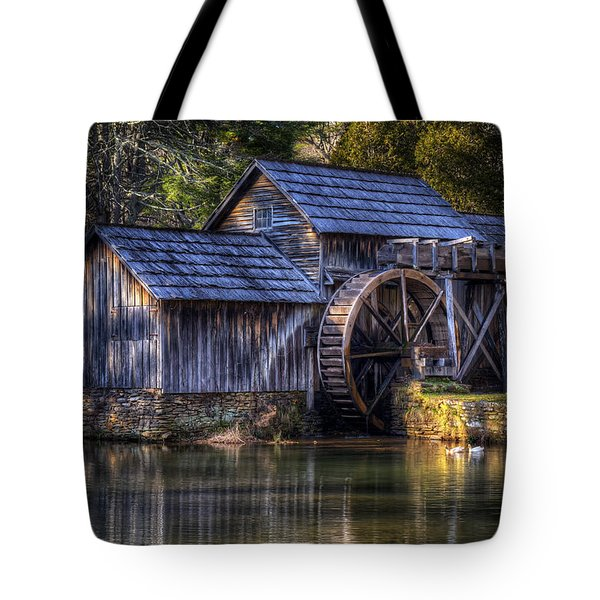 Mabry Mill Tote Bag by Steve Hurt
