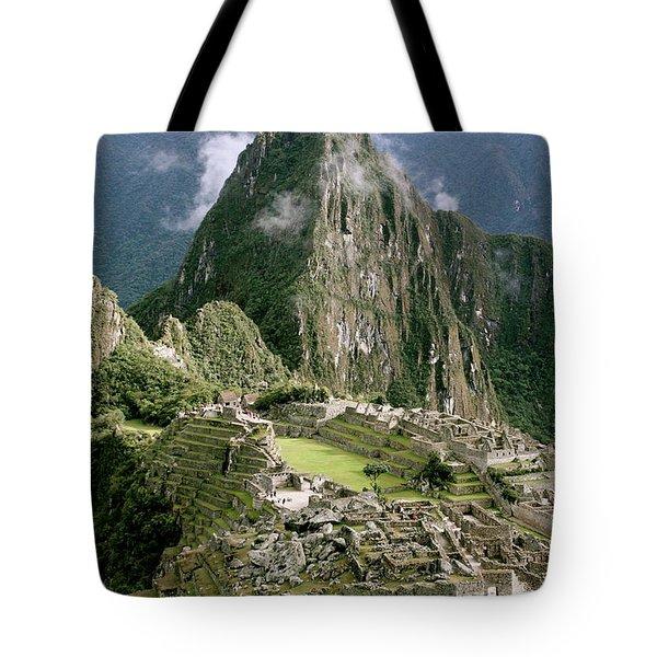 Machu Picchu At Sunrise Tote Bag