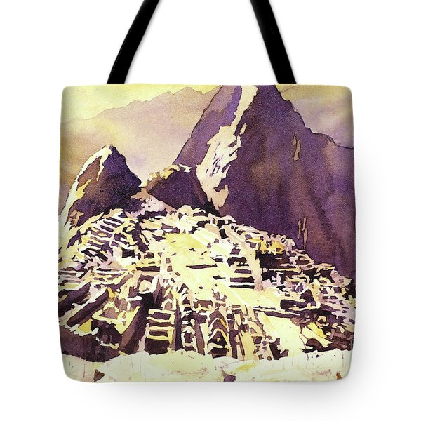 Machu Picchu Sunset Tote Bag