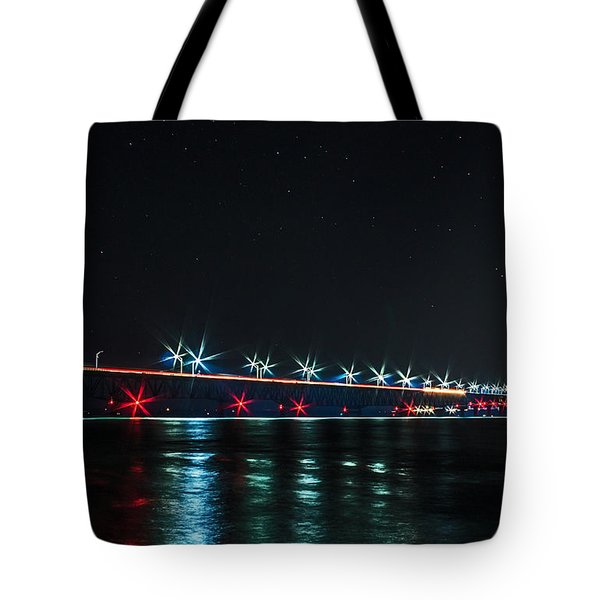 Mackinac Bridge  Tote Bag