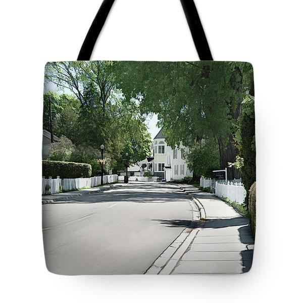 Mackinac Island Street  Tote Bag