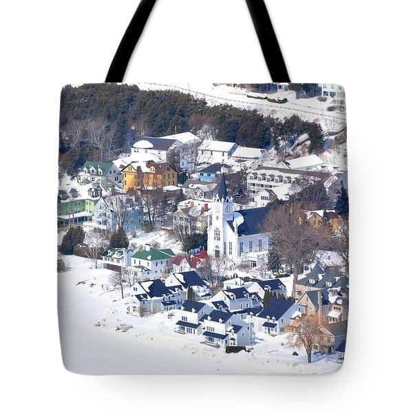 Mackinac Island Winter Tote Bag