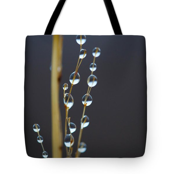Macro Drops Tote Bag