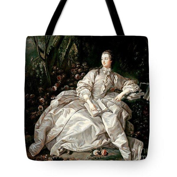 Madame De Pompadour Tote Bag by Francois Boucher