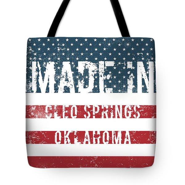 Made In Cleo Springs, Oklahoma Tote Bag