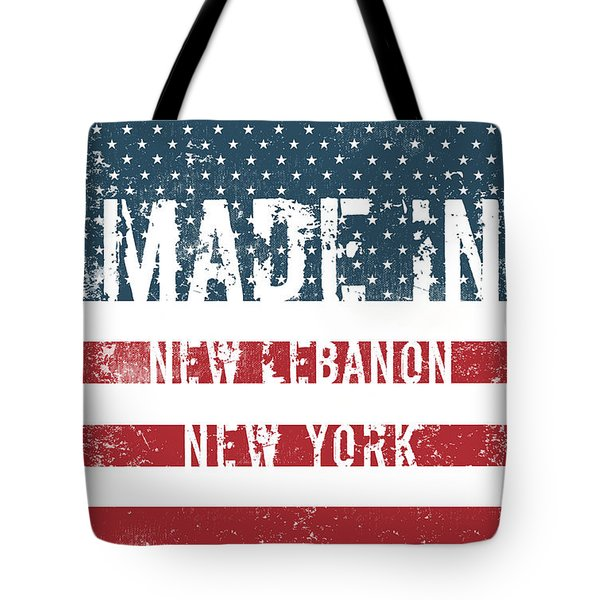 Made In New Lebanon, New York Tote Bag