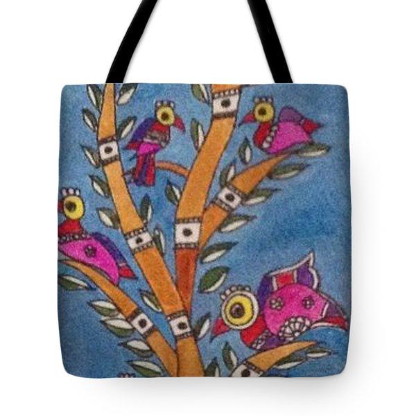 Madhubani Painting Tote Bag