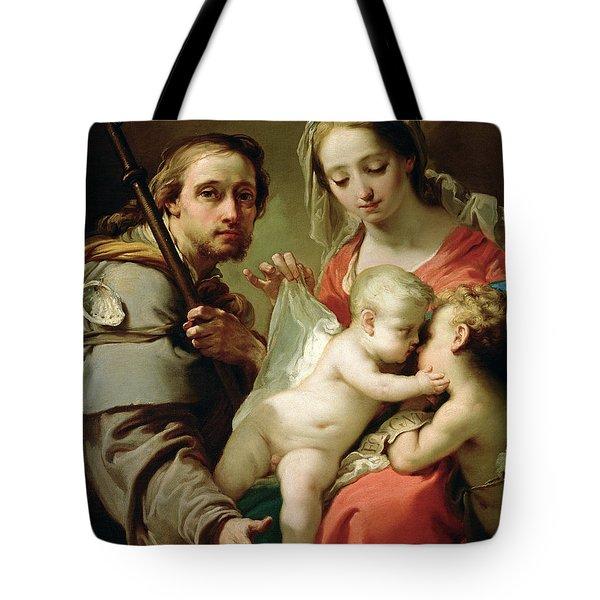 Madonna And Child Tote Bag by Gaetano Gandolfi