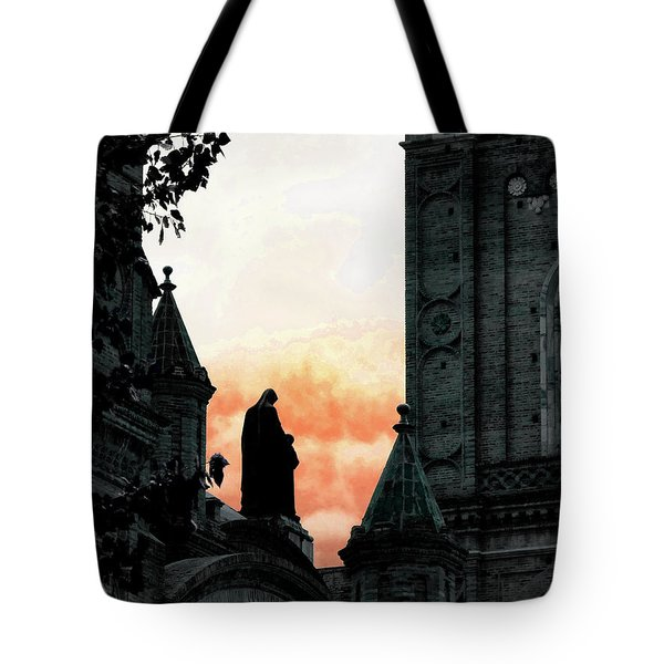 Madonna And Child II Tote Bag by Al Bourassa
