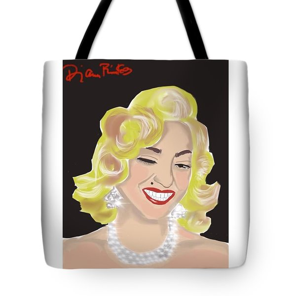 Tote Bag featuring the digital art Madonna by Diana Riukas
