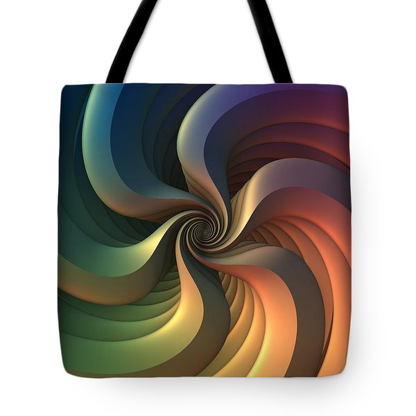 Tote Bag featuring the digital art Maelstrom by Lyle Hatch