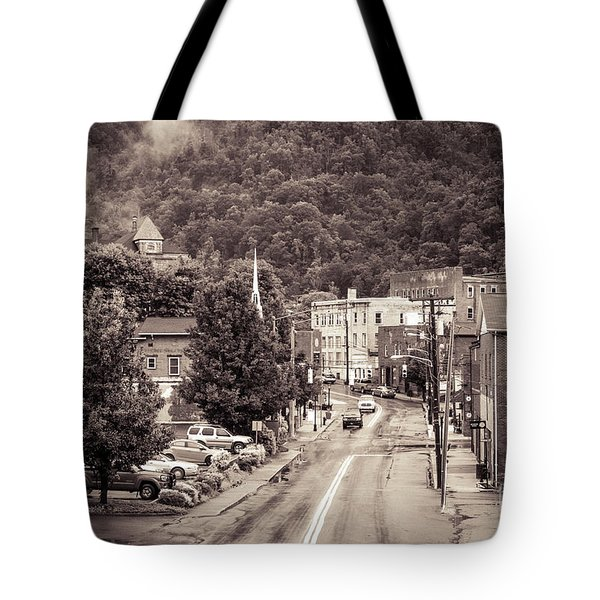 Tote Bag featuring the photograph Main Street Webster Springs by Thomas R Fletcher
