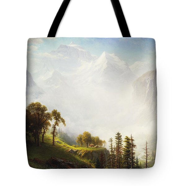 Majesty Of The Mountains Tote Bag by Albert Bierstadt