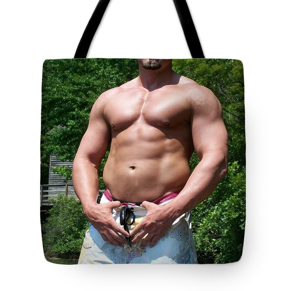 Male Muscle Art Tote Bag by Jake Hartz