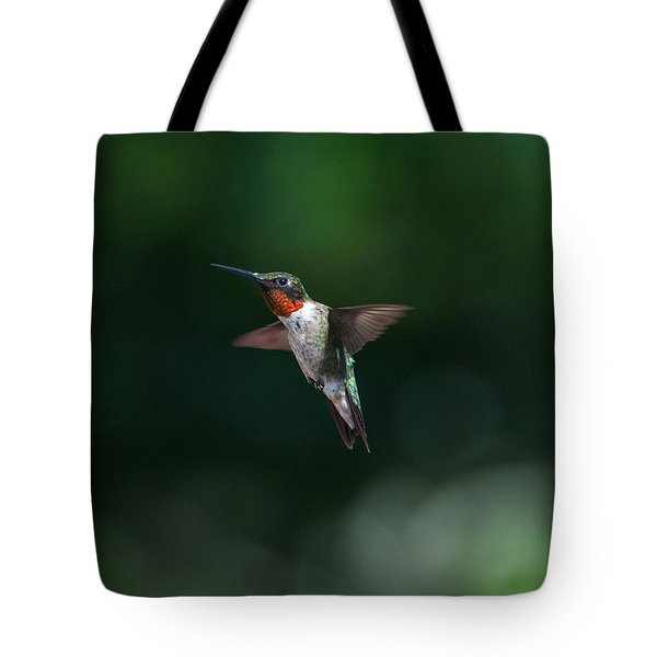 Male Ruby Throated Hummingbird Tote Bag
