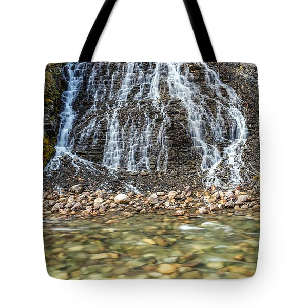 Cascades Of Maligne Canyon Tote Bag
