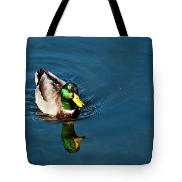 Tote Bag featuring the photograph Mallard by Bill Barber