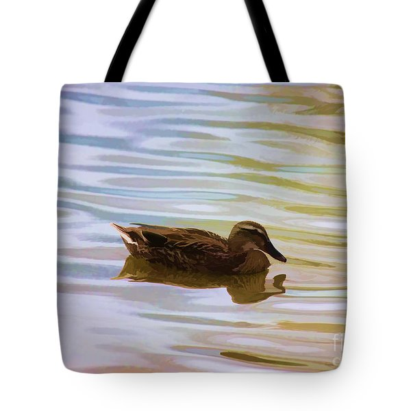 Tote Bag featuring the photograph Mallard Hen by Erica Hanel