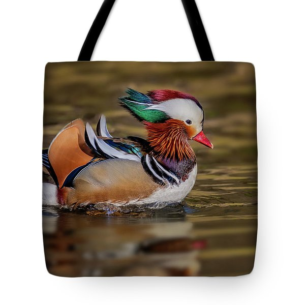 Tote Bag featuring the photograph Mandarin Duck  by Susan Candelario