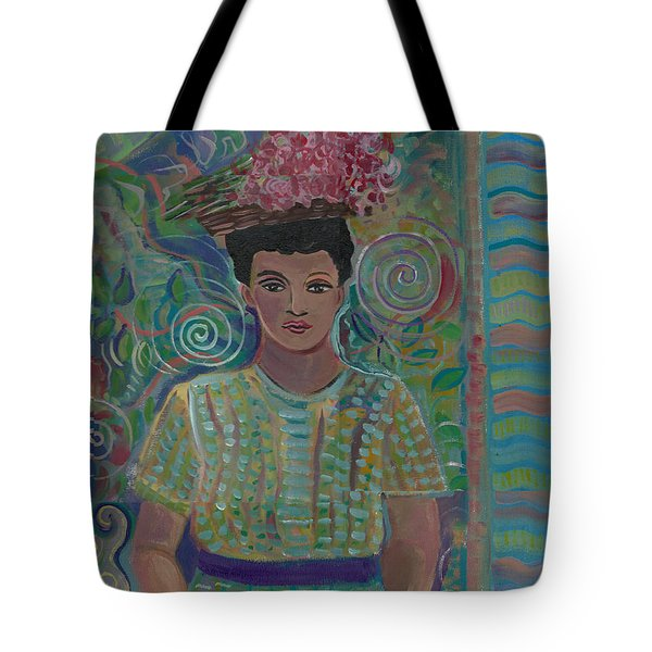 Tote Bag featuring the painting Maria by John Keaton