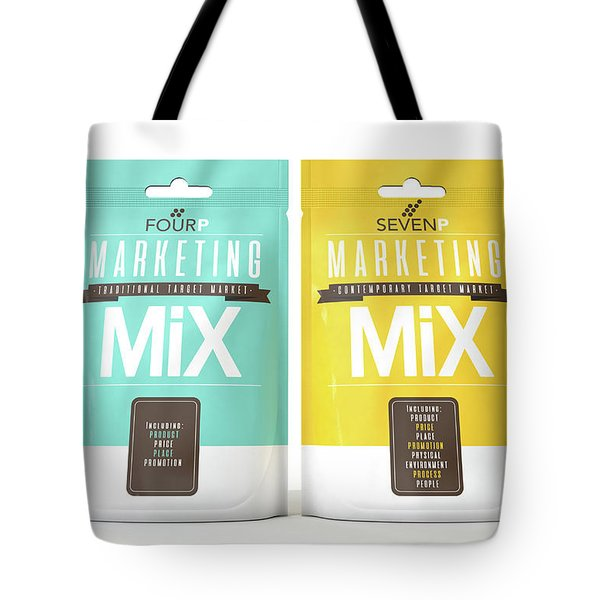 Marketing Mix 4 And 7 P's Tote Bag