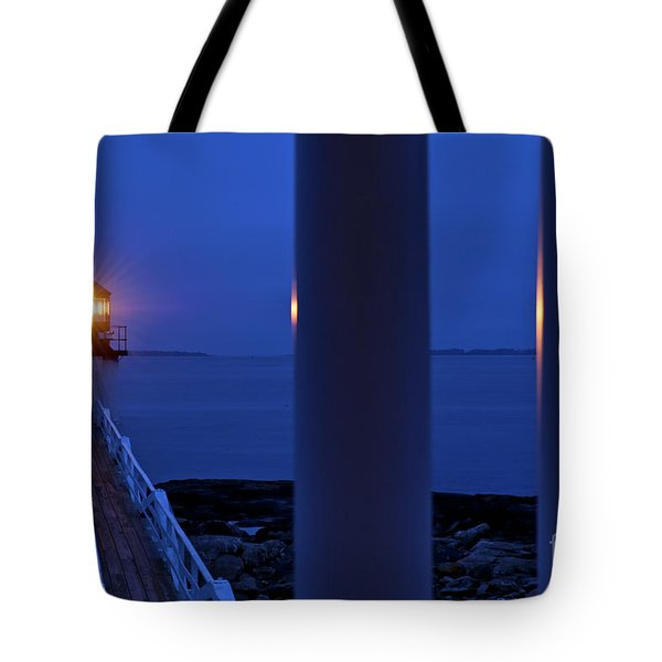 Marshall Point Lighthouse Tote Bag by John Greim