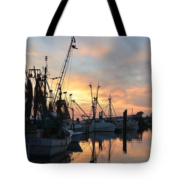 Marshallberg Harbor Sunset Tote Bag