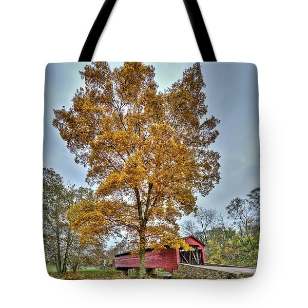 Maryland Covered Bridge In Autumn Tote Bag