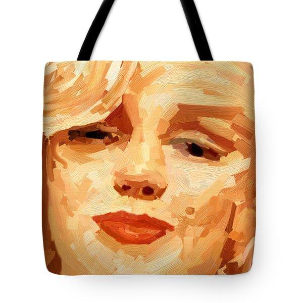 Marylin Monroe 3 Tote Bag by James Shepherd
