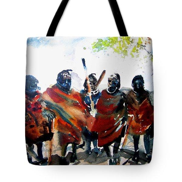 Masaai Boys Tote Bag