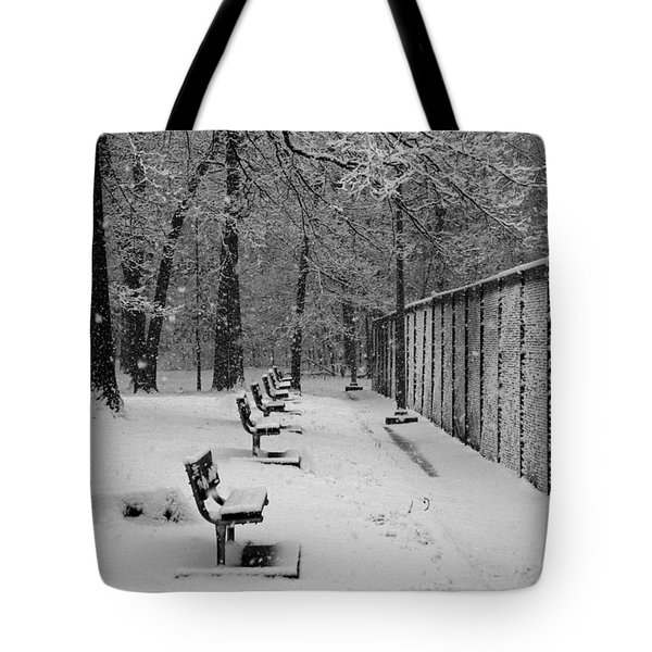 Match Called For Snow Tote Bag by Andy Lawless