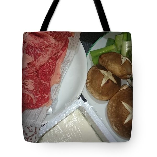 Materials Of The Sukiyaki Dish  Tote Bag