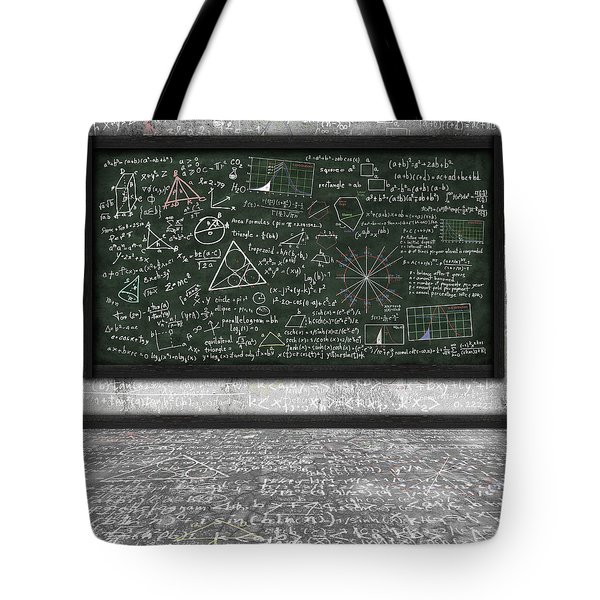 Maths Formula On Chalkboard Tote Bag