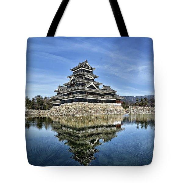 Matsumoto Castle Panorama Tote Bag