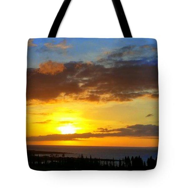 Maui Sunset At The Plantation House Tote Bag