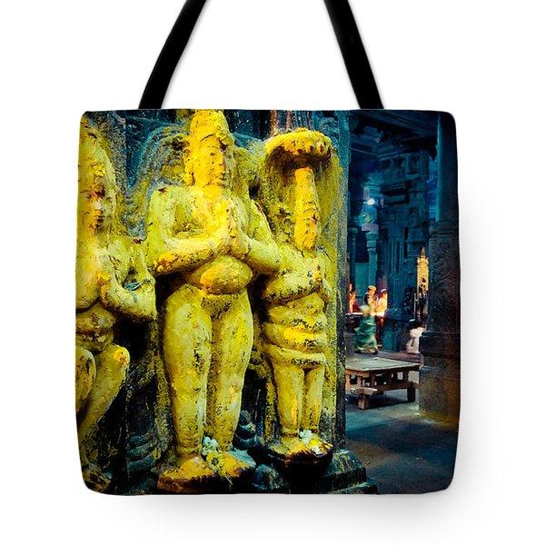 Meenakshi Temple Madurai India Tote Bag