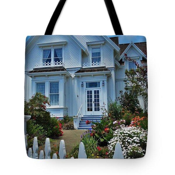 Mendocino Cottage Tote Bag