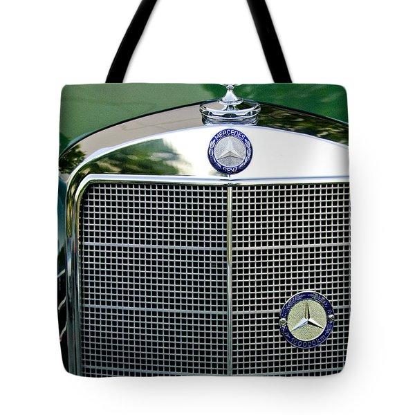 Mercedes Benz Hood Ornament Tote Bag by Jill Reger