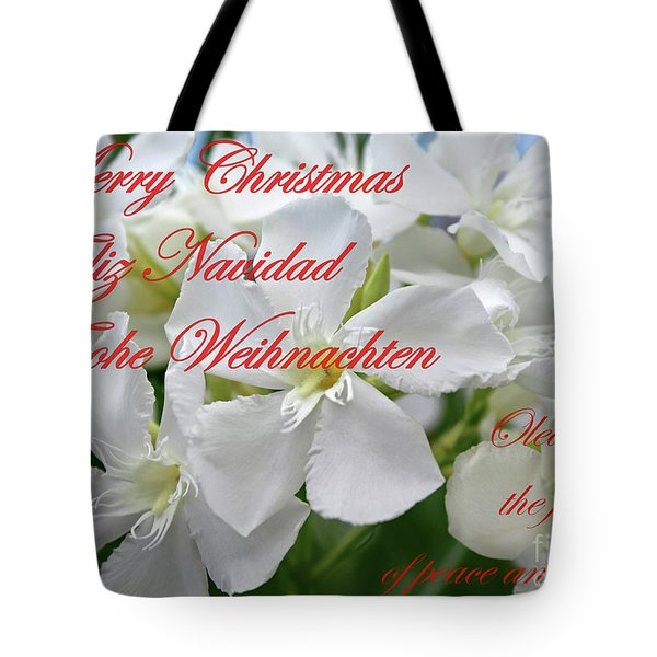 Merry Christmas Tote Bag by Wilhelm Hufnagl