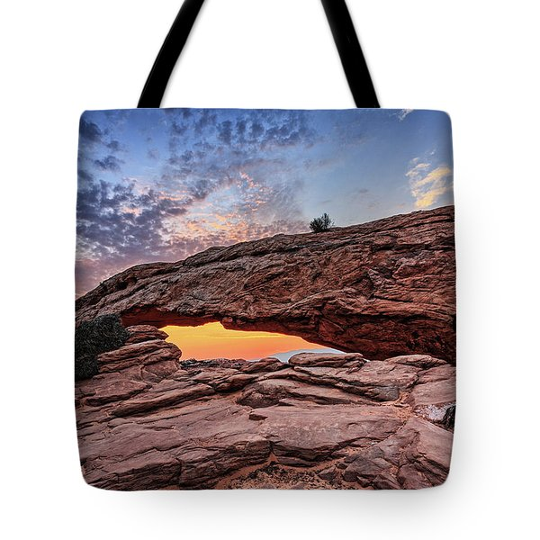 Mesa Arch At Sunrise Tote Bag