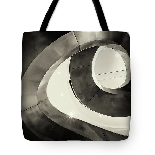 Abstract Metal Spiral Staircase Tote Bag