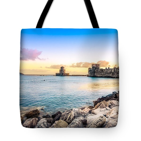 Methoni's Castle / Greece. Tote Bag by Stavros Argyropoulos